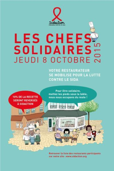 Affiche Chefs solidaires 2015